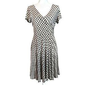 GILLI Anwen Jersey Off White Large Faux Wrap Dress